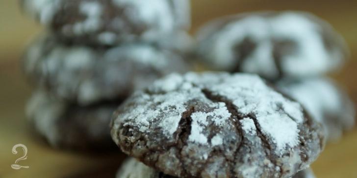 Receita de Cookie Rachado de Chocolate em vídeo | Gourmet a Dois