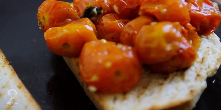 Tomates Assados com Manjericão