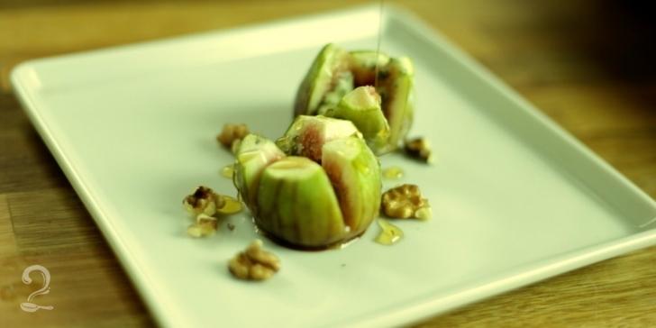 Receita de Figos Assados com Queijo Gorgonzola em vídeo | Gourmet a Dois