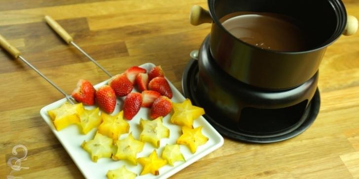 Receita de Fondue de Chocolate em vídeo | Gourmet a Dois