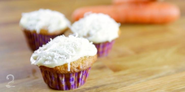 Receita de Cupcake de Cenoura e Cream Cheese em vídeo | Gourmet a Dois