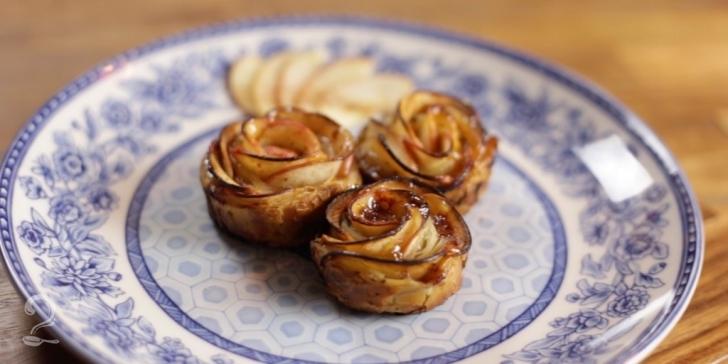 Receita de Rosas de maçã em vídeo | Gourmet a Dois