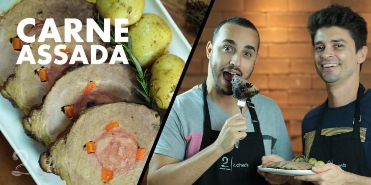 Receita de Carne Assada Recheada de Panela de Pressão Gourmet | Como fazer em vídeo