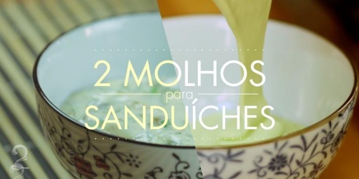Técnica da Receita de 2 Molhos para Hambúrguer e Sanduíche - Maionese de Leite e Remoulade | Como fazer em vídeo