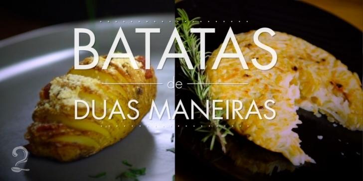 Receita de BATATA DE DUAS MANEIRAS (INCRÍVEIS!) em vídeo | Gourmet a Dois