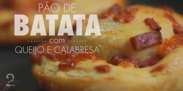 Receita de Como Fazer PÃO DE BATATA com Queijo e Calabresa em vídeo | Gourmet a Dois