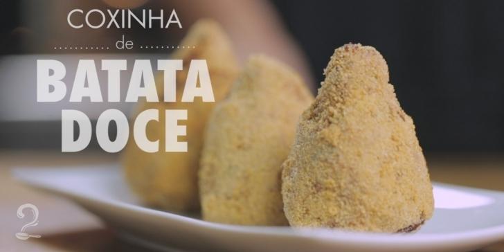 Receita de Coxinha de Galinha com Massa de Batata Doce | Sem Farinha | Sem Glúten | Como fazer em vídeo