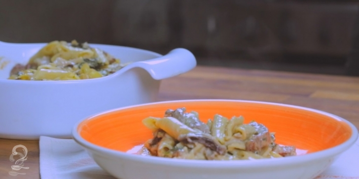 Receita de Macarrão com Queijo e Contrafilé (Mac & Cheese Turbinado)   Como fazer em vídeo
