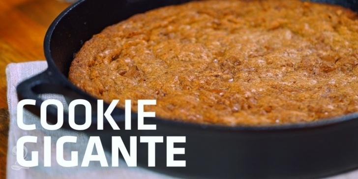Receita de Receita Cookie Gigante de Frigideira | Como fazer em vídeo