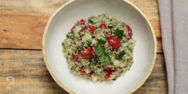 Receita de TABULE DE QUINOA | Receita Saudável Prática | Fit em vídeo | Gourmet a Dois