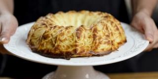 Torta Pudim de Marcarrão com Queijo Derretido