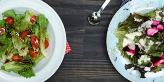 2 Molhos Fáceis para Salada (Molho Cremoso e Vinagrete Balsâmico)