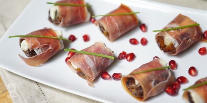 Receita de Tâmara recheada com Gorgonzola e Presunto de Parma em vídeo | Gourmet a Dois