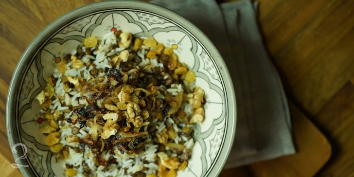 Receita de Arroz de Natal com Lentilha e Cebola Caramelizada (Mjadra) | Como fazer em vídeo