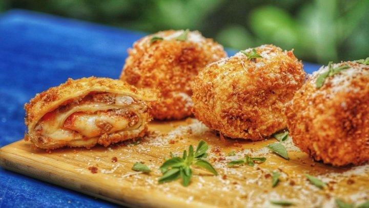 Nuggets de Lasanha - Bolinhos Crocantes Recheados