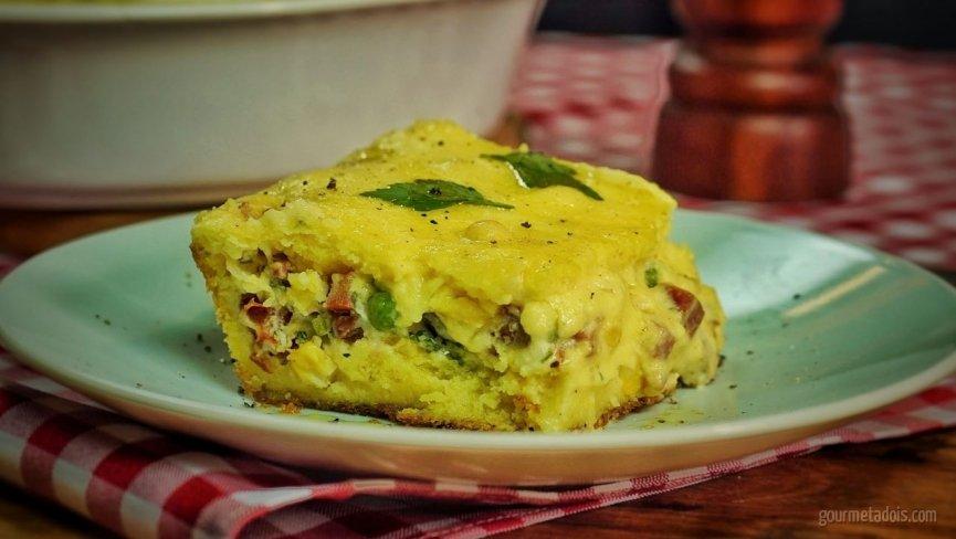 Receita de Torta Caipira de Milho, Linguiça e Queijo | Como fazer em vídeo