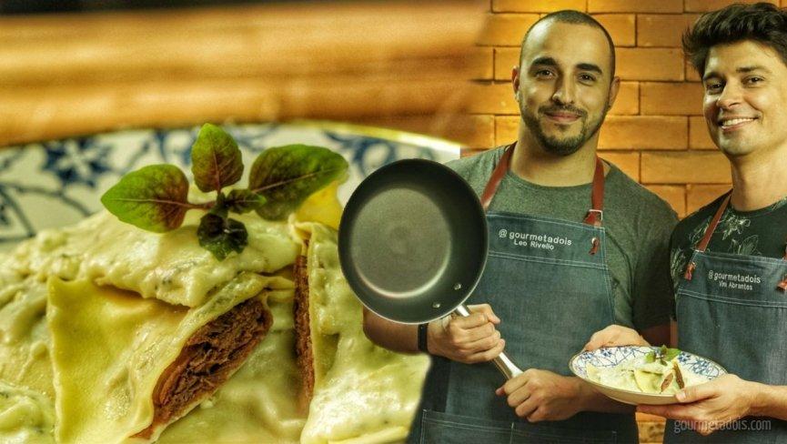 Ravioli de Carne com Molho de Queijos do Spoleto