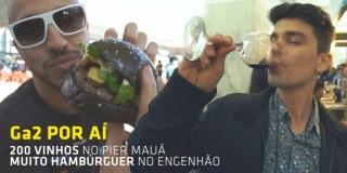 200 VINHOS E MUITO HAMBÚRGUER! | Gourmet a dois Por Aí VLOG #1